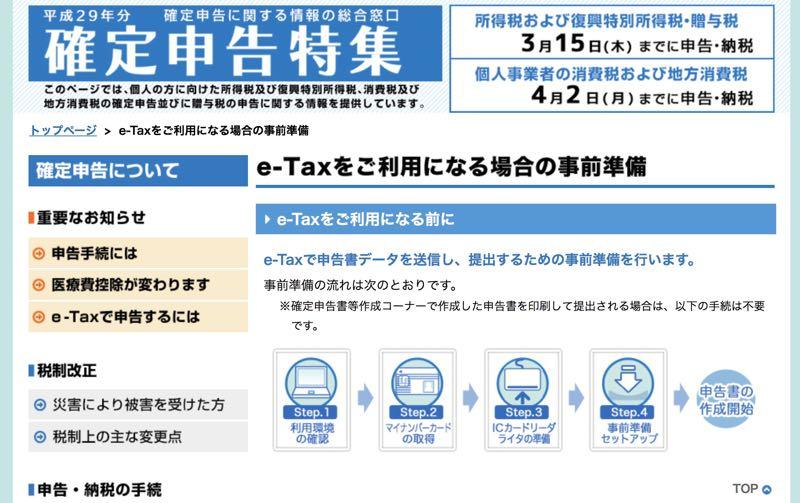 確定申告 e-Tax やり方 マイナンバーカード