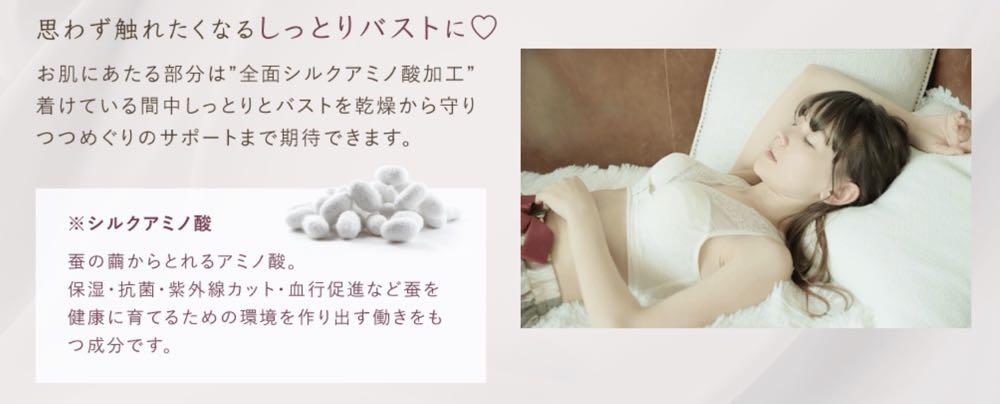 ルルクシェル ナイトブラ ふんわりルームブラ くつろぎ育乳ブラ
