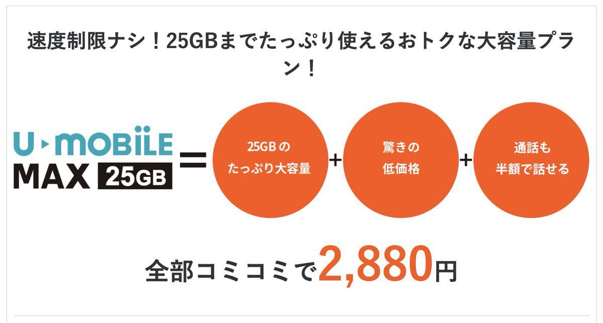楽天モバイル 格安SIM スマホ乗り換え U-mobile